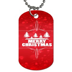 Red Bokeh Christmas Background Dog Tag (One Side) by Nexatart