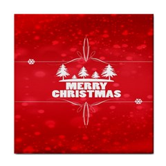 Red Bokeh Christmas Background Face Towel
