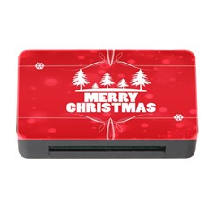 Red Bokeh Christmas Background Memory Card Reader With Cf by Nexatart