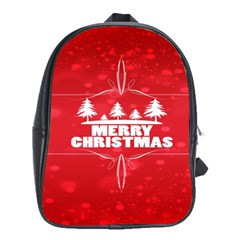 Red Bokeh Christmas Background School Bags (xl)