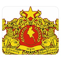 State Seal Of Myanmar Double Sided Flano Blanket (small)  by abbeyz71