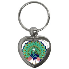 Burma Green Peacock National Symbol  Key Chains (heart)  by abbeyz71