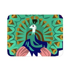 Burma Green Peacock National Symbol  Double Sided Flano Blanket (mini)  by abbeyz71