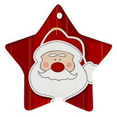 Santa Claus Xmas Christmas Ornament (star)