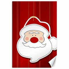 Santa Claus Xmas Christmas Canvas 24  X 36  by Nexatart