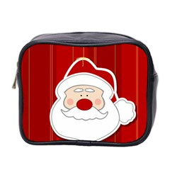 Santa Claus Xmas Christmas Mini Toiletries Bag 2 Side by Nexatart