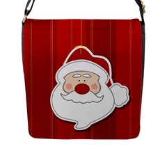 Santa Claus Xmas Christmas Flap Messenger Bag (l)