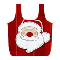 Santa Claus Xmas Christmas Full Print Recycle Bags (l)