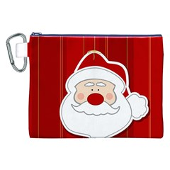 Santa Claus Xmas Christmas Canvas Cosmetic Bag (xxl) by Nexatart