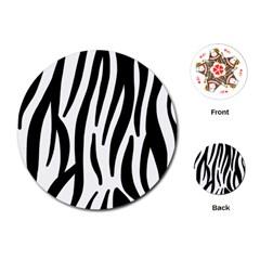 Seamless Zebra Pattern Playing Cards (round)