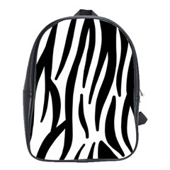 Seamless Zebra Pattern School Bags(large)  by Nexatart