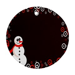 Snowman Holidays, Occasions, Christmas Ornament (round)