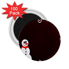 Snowman Holidays, Occasions, Christmas 2 25  Magnets (100 Pack)