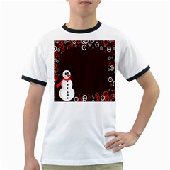 Snowman Holidays, Occasions, Christmas Ringer T Shirts by Nexatart