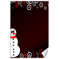 Snowman Holidays, Occasions, Christmas Canvas 24  X 36  by Nexatart