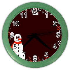 Snowman Holidays, Occasions, Christmas Color Wall Clocks