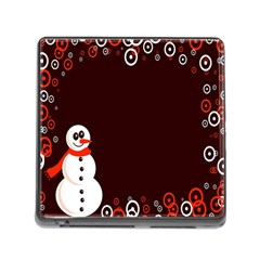 Snowman Holidays, Occasions, Christmas Memory Card Reader (square)