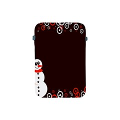 Snowman Holidays, Occasions, Christmas Apple Ipad Mini Protective Soft Cases by Nexatart