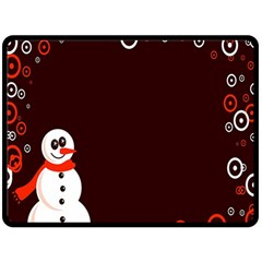 Snowman Holidays, Occasions, Christmas Double Sided Fleece Blanket (large)  by Nexatart