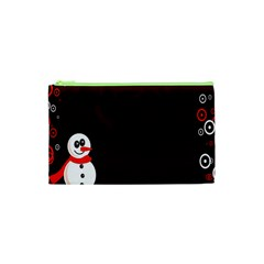 Snowman Holidays, Occasions, Christmas Cosmetic Bag (xs) by Nexatart