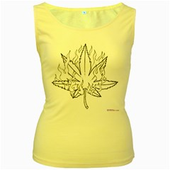 Images (1) Women s Yellow Tank Top by Foxymomma