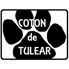 Coton Name Paw Fleece Blanket (Large)  by TailWags