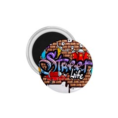 Graffiti Word Characters Composition Decorative Urban World Youth Street Life Art Spraycan Drippy Bl 1 75  Magnets by Foxymomma