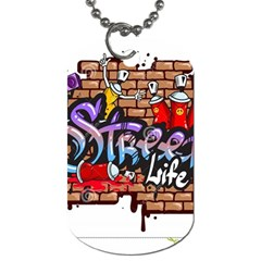 Graffiti Word Characters Composition Decorative Urban World Youth Street Life Art Spraycan Drippy Bl Dog Tag (one Side) by Foxymomma