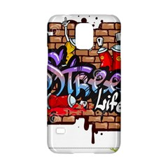 Graffiti Word Characters Composition Decorative Urban World Youth Street Life Art Spraycan Drippy Bl Samsung Galaxy S5 Hardshell Case