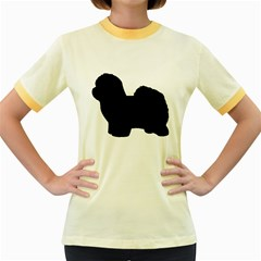 Coton De Tulear Silo Black Women s Fitted Ringer T-Shirts by TailWags
