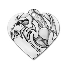 Tattoo Design 002 Dog Tag Heart (two Sides) by Foxymomma