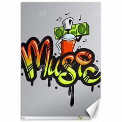 Graffiti Word Character Print Spray Can Element Player Music Notes Drippy Font Text Sample Grunge Ve Canvas 20  X 30   by Foxymomma