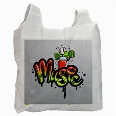 Graffiti Word Character Print Spray Can Element Player Music Notes Drippy Font Text Sample Grunge Ve Recycle Bag (one Side) by Foxymomma