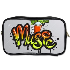 Graffiti Word Character Print Spray Can Element Player Music Notes Drippy Font Text Sample Grunge Ve Toiletries Bags 2 Side