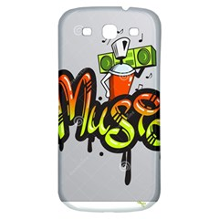 Graffiti Word Character Print Spray Can Element Player Music Notes Drippy Font Text Sample Grunge Ve Samsung Galaxy S3 S Iii Classic Hardshell Back Case by Foxymomma