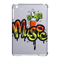 Graffiti Word Character Print Spray Can Element Player Music Notes Drippy Font Text Sample Grunge Ve Apple Ipad Mini Hardshell Case (compatible With Smart Cover) by Foxymomma