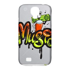 Graffiti Word Character Print Spray Can Element Player Music Notes Drippy Font Text Sample Grunge Ve Samsung Galaxy S4 Classic Hardshell Case (pc+silicone) by Foxymomma