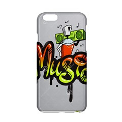 Graffiti Word Character Print Spray Can Element Player Music Notes Drippy Font Text Sample Grunge Ve Apple Iphone 6/6s Hardshell Case by Foxymomma