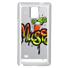 Graffiti Word Character Print Spray Can Element Player Music Notes Drippy Font Text Sample Grunge Ve Samsung Galaxy Note 4 Case (white) by Foxymomma