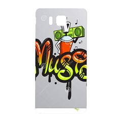 Graffiti Word Character Print Spray Can Element Player Music Notes Drippy Font Text Sample Grunge Ve Samsung Galaxy Alpha Hardshell Back Case by Foxymomma