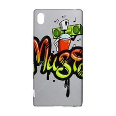 Graffiti Word Character Print Spray Can Element Player Music Notes Drippy Font Text Sample Grunge Ve Sony Xperia Z3+ by Foxymomma