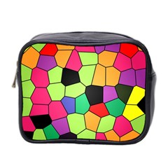 Stained Glass Abstract Background Mini Toiletries Bag 2 Side by Nexatart