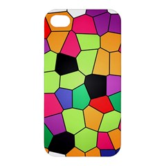 Stained Glass Abstract Background Apple Iphone 4/4s Hardshell Case