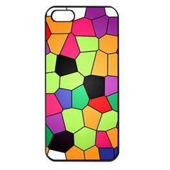 Stained Glass Abstract Background Apple Iphone 5 Seamless Case (black) by Nexatart