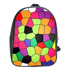 Stained Glass Abstract Background School Bags (xl)
