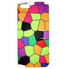 Stained Glass Abstract Background Apple Iphone 5 Hardshell Case With Stand