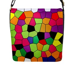 Stained Glass Abstract Background Flap Messenger Bag (l)  by Nexatart