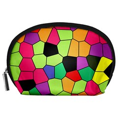 Stained Glass Abstract Background Accessory Pouches (large)