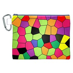 Stained Glass Abstract Background Canvas Cosmetic Bag (xxl) by Nexatart