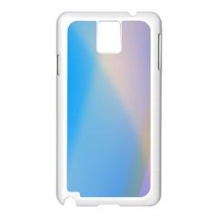 Twist Blue Pink Mauve Background Samsung Galaxy Note 3 N9005 Case (white)